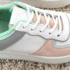 Sneaker wit grijs roze en munt