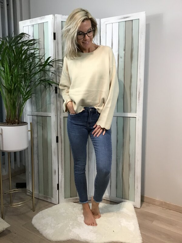 Jeans blauw hoge taille skinny