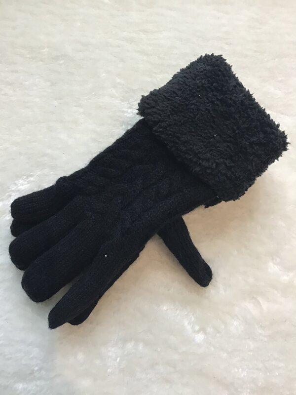 Warme handschoen zwart