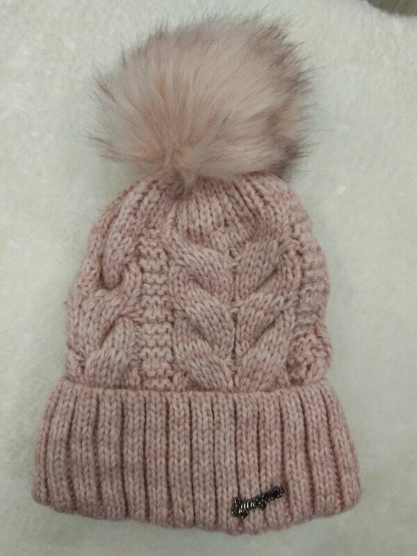 Muts Roze met warme fleece voering