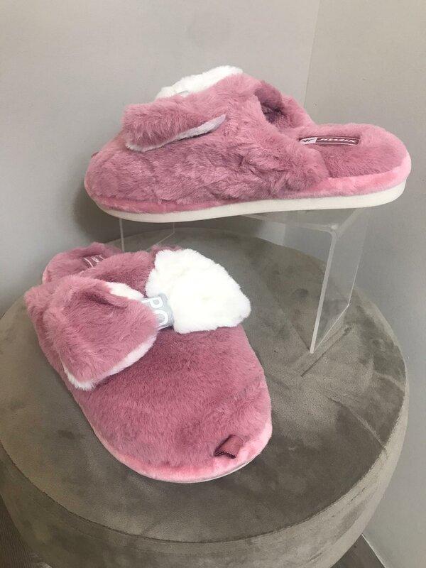 Super zachte pantoffel donker roze
