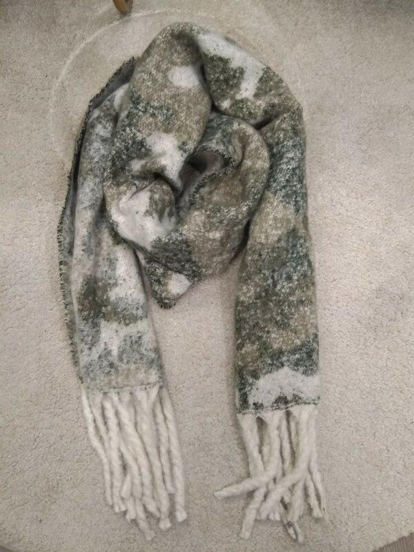Warme sjaal kaki tinten
