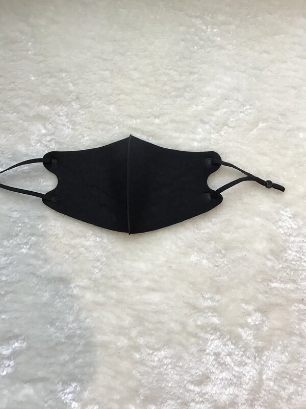 Mondmasker neoprene verstelbaar zwart