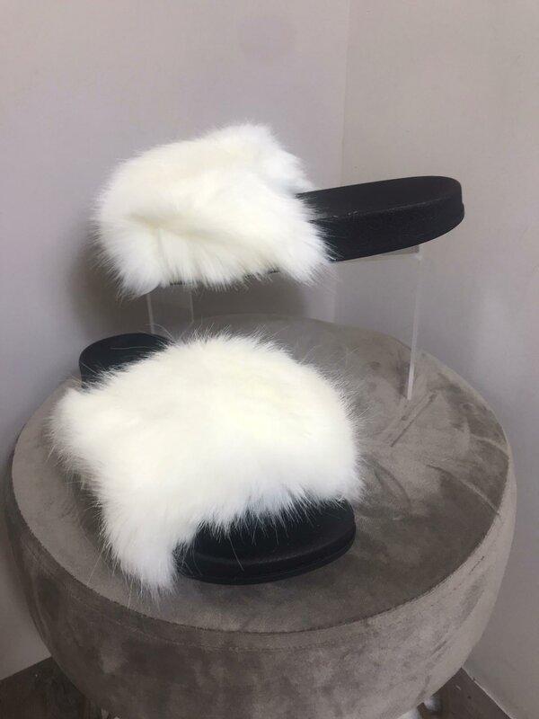 Slipper witte fluffy