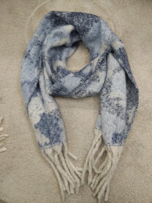 Warme sjaal blauwe tinten