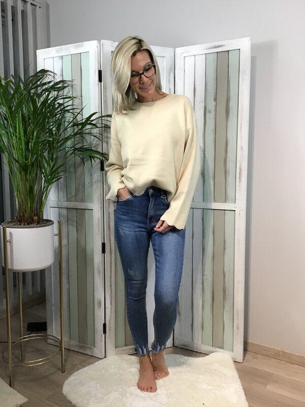 Jeans blauwe hoge taille/skinny