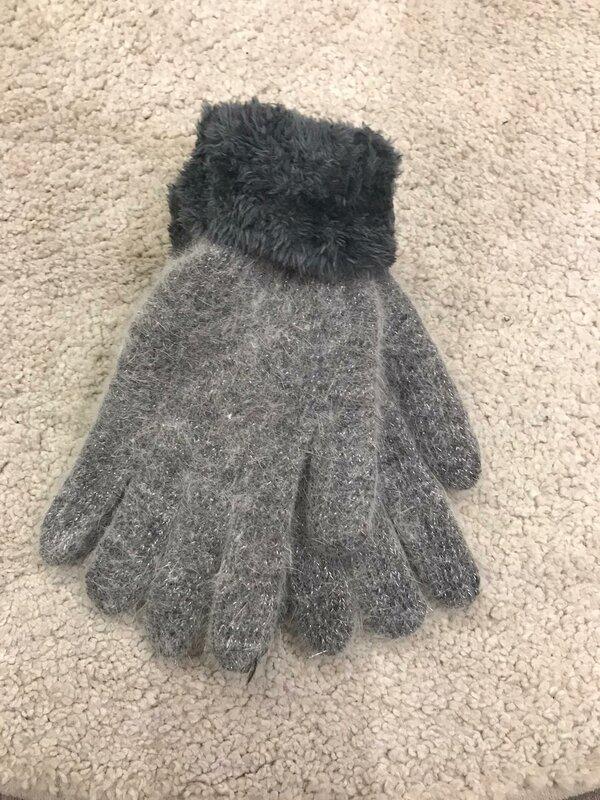 Handschoen grijs super zacht