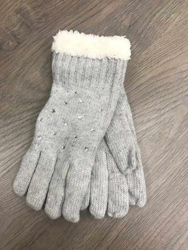 Handschoen licht grijs