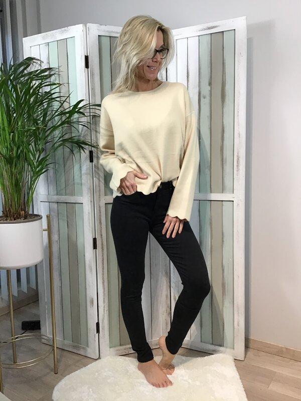 Broek zwart hoge taille/skinny
