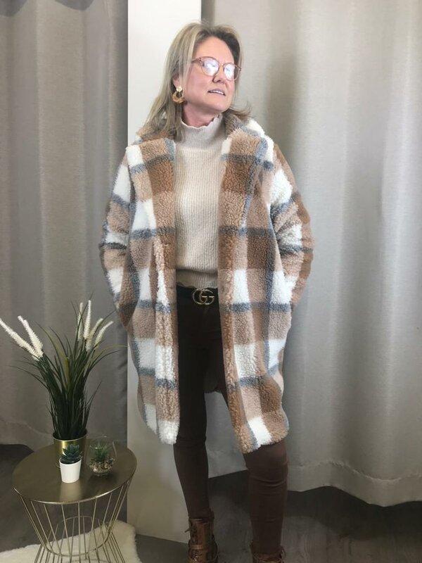 Lange jas super soft