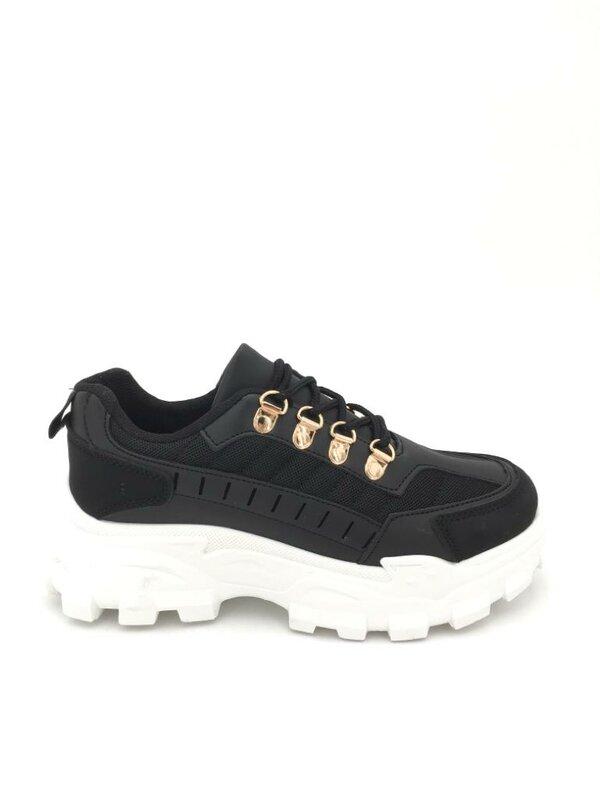 Sneaker zwart met wit