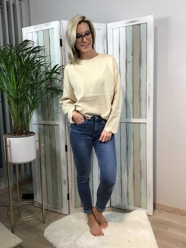 Jeans blauwe hoge taille / skinny