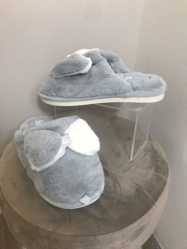 Super zachte pantoffel grijs