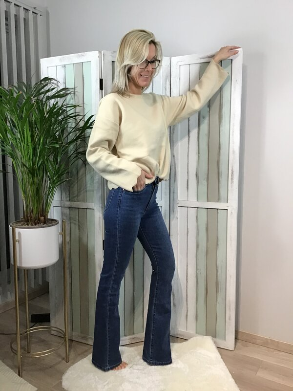 Jeans boot cut hoge taille