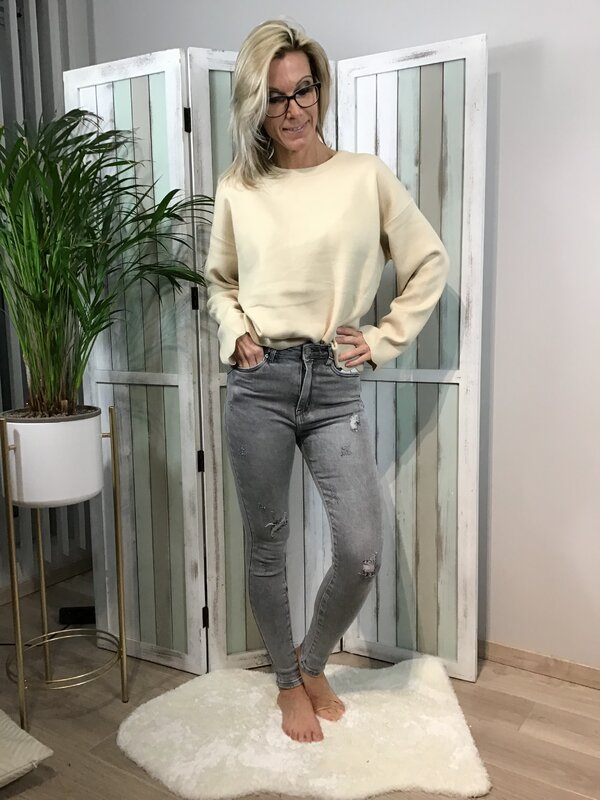 Jeans grijs hoge taille / skinny