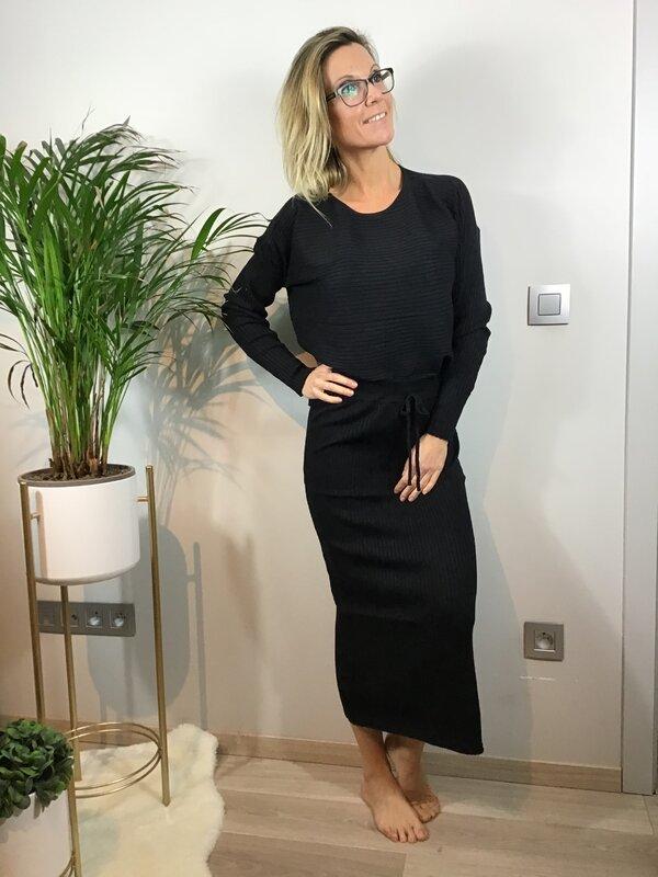 Setje rok en blouse zwart