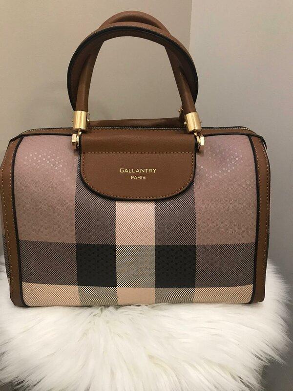 Handtas donker taupe bruin