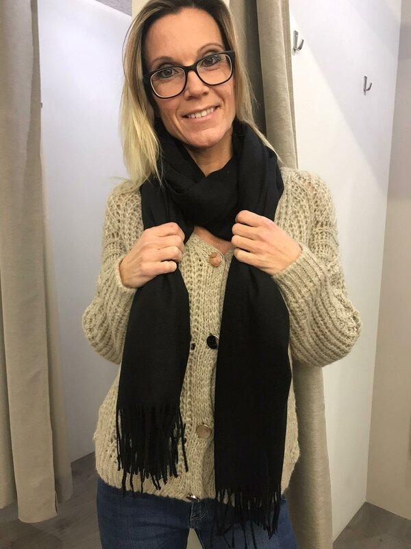 Sjaal zwart cashmere