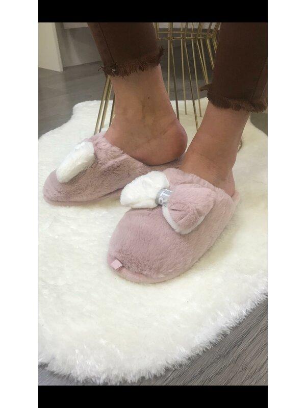 Super zachte pantoffel roze