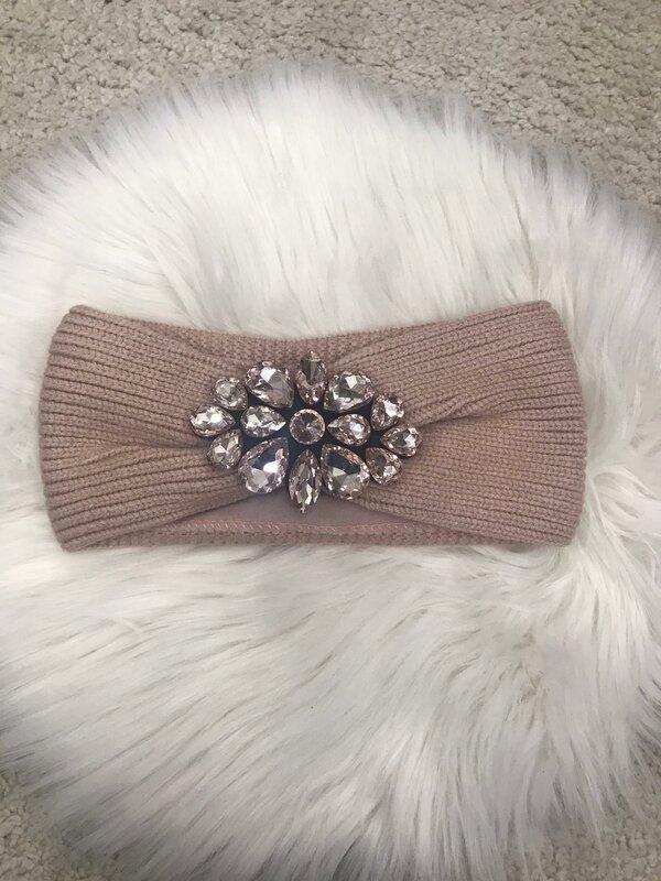 Haarband roze met fleece voering