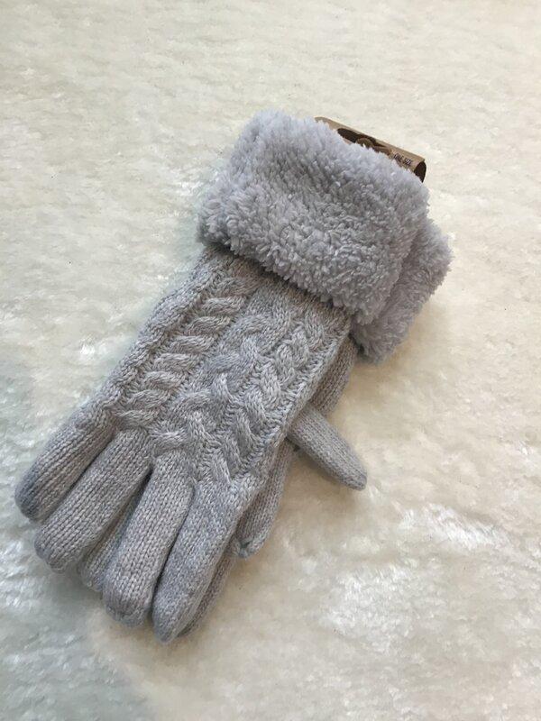Warme handschoenen licht grijs