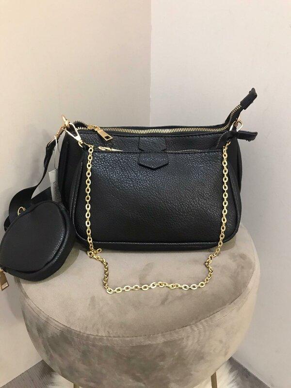 Handtassen setje 3-delig zwart