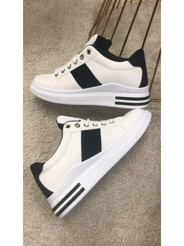Sneaker wit met zwart