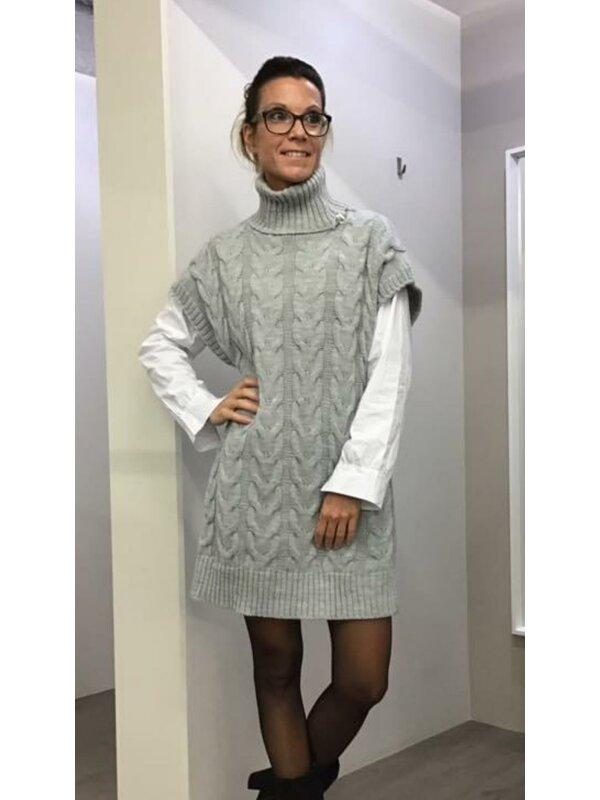 Pull/kleed met rolkraag licht grijs
