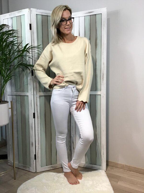 Broek wit hoge taille/skinny