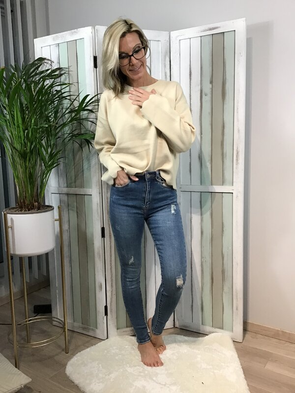 Jeans blauw hoge taille / skinny