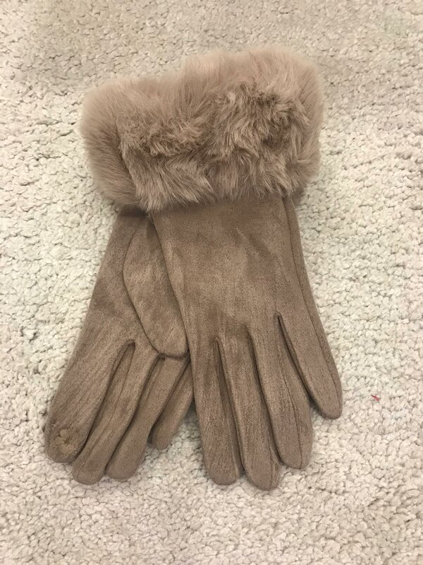 Handschoen beige