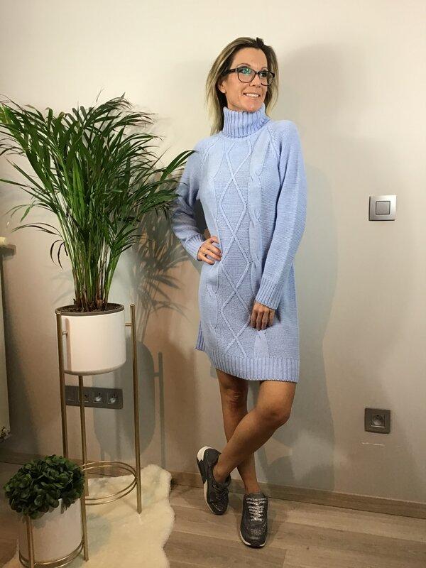 Pull/kleedje licht blauw met rolkraag