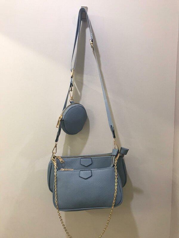Handtassen setje 3 - delig blauw