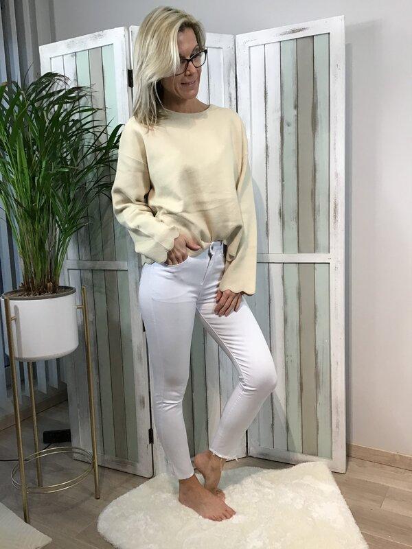 Broek wit hoge taille / skinny