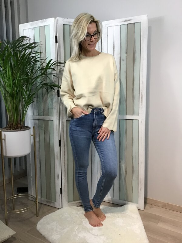 Jeans blauw hoge taille/skinny