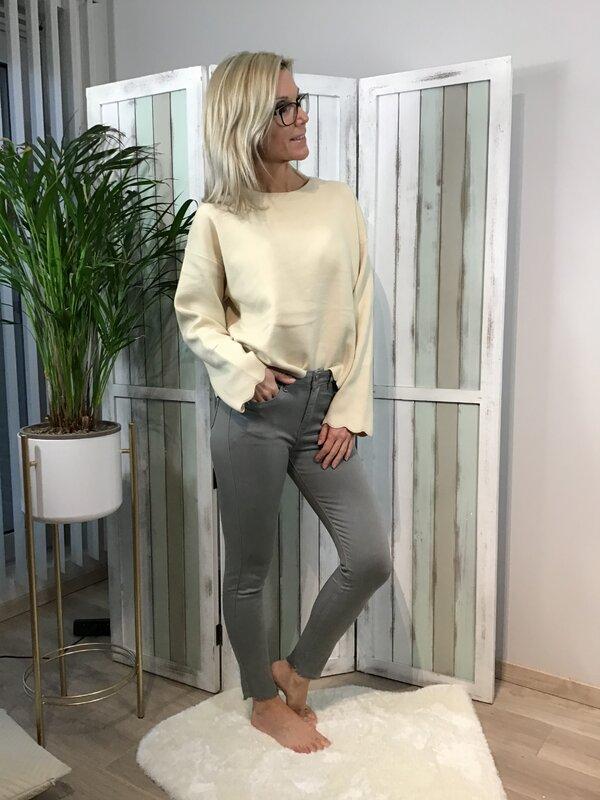 Broek grijs hoge taille / skinny