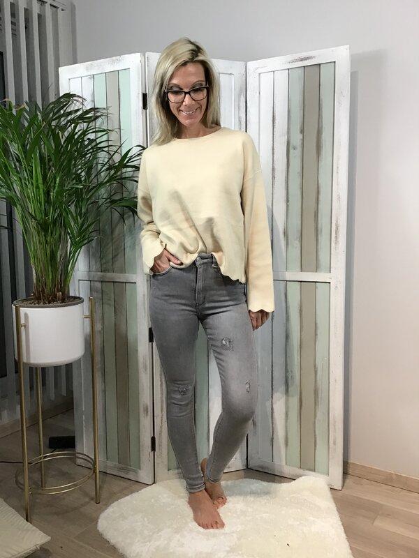 Jeans grijs hoge taille/skinny