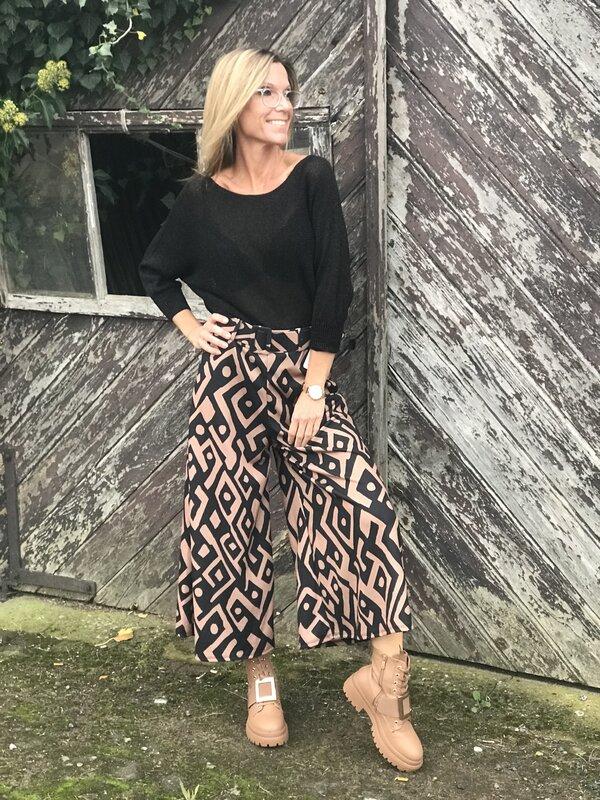 Broek / rok in zwart bruin