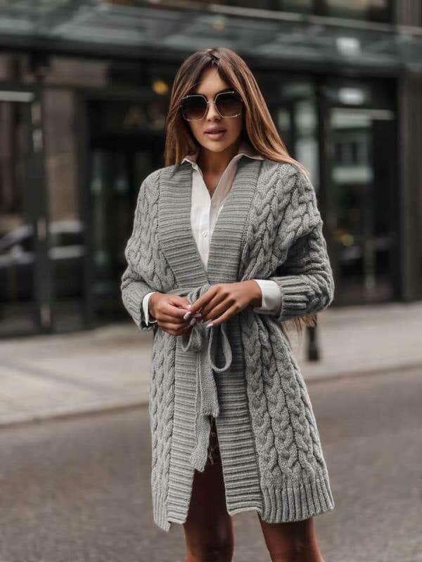 Cardigan in grijze kleur