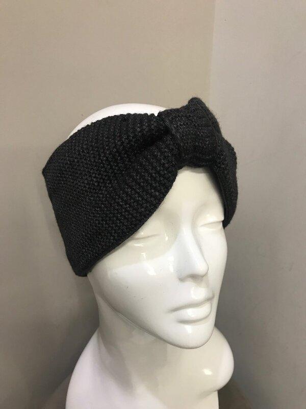 Haarband in donker grijs