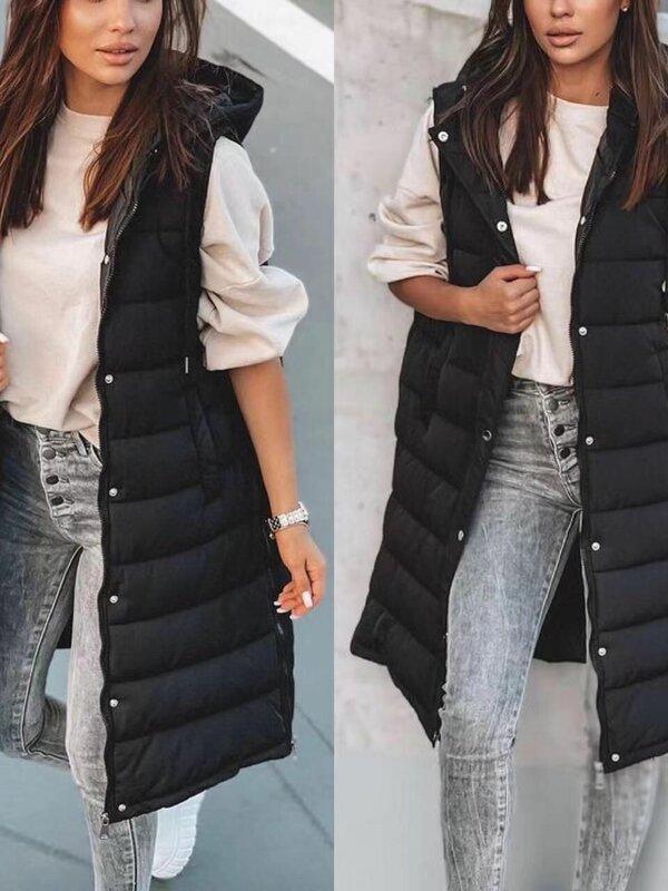 Body jas  lang model in zwart