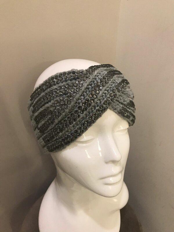 Haarband in licht grijs
