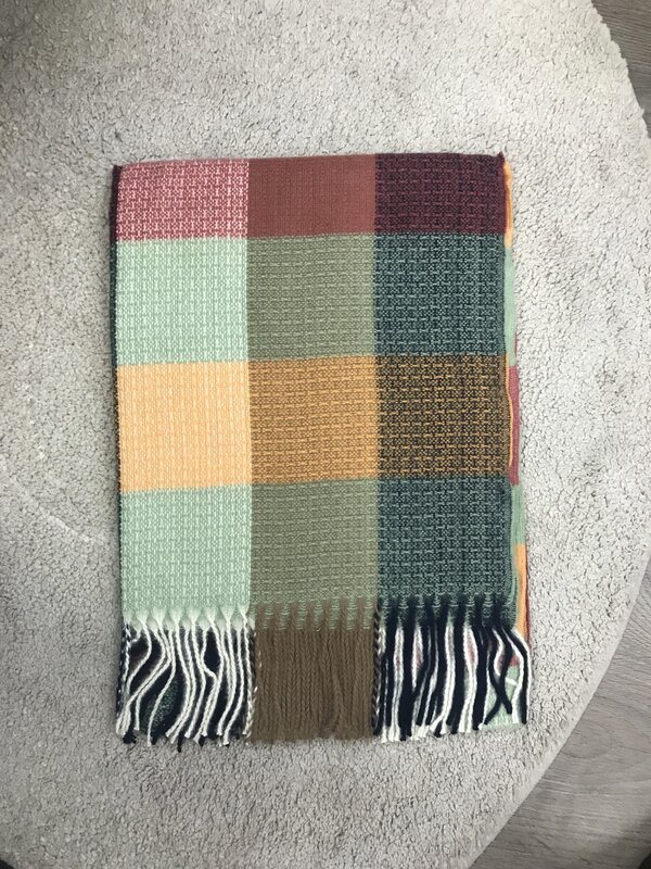 Warme sjaal color mix