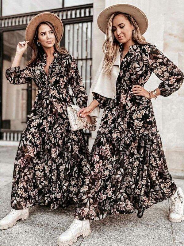 Lang kleedje met bloemenprintje
