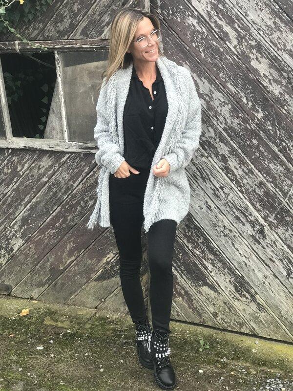 Cardigan in grijs