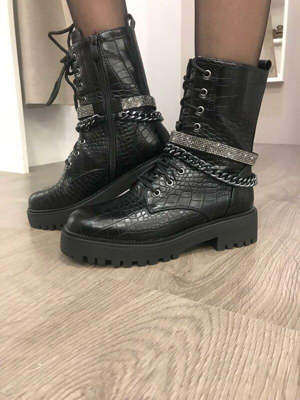 Coole bottines in zwart
